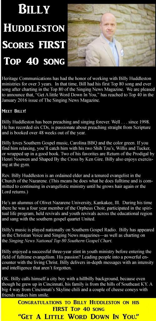 Billy Huddleston website