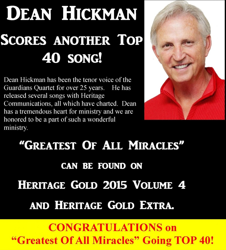 DEAN HICKMAN WEBSITE Greatest Of All Miracles